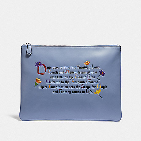 COACH DISNEY X COACH LARGE WRISTLET 30 WITH ENCHANTED FOREST ONCE UPON A TIME PRINT - MULTI - F72933