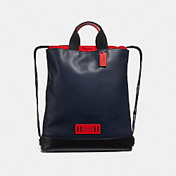 TERRAIN DRAWSTRING BACKPACK - MIDNIGHT NAVY/BLACK ANTIQUE NICKEL - COACH F72934