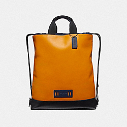 TERRAIN DRAWSTRING BACKPACK IN COLORBLOCK - MARIGOLD/BLACK ANTIQUE NICKEL - COACH F72942