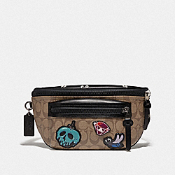 DISNEY X COACH TERRAIN BELT BAG IN SIGNATURE CANVAS WITH SNOW WHITE AND THE SEVEN DWARFS PATCHES - TAN - COACH F72952