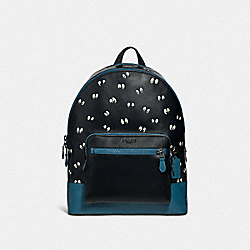 DISNEY X COACH WEST BACKPACK WITH SNOW WHITE AND THE SEVEN DWARFS EYES PRINT - BLACK/MULTI - COACH F72958