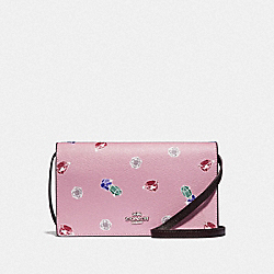 DISNEY X COACH HAYDEN FOLDOVER CROSSBODY CLUTCH WITH SNOW WHITE AND THE SEVEN DWARFS GEMS PRINT - TULIP/MULTI/SILVER - COACH F72966