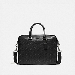 BECKETT COMPACT BRIEF IN SIGNATURE LEATHER - BLACK/NICKEL - COACH F72973