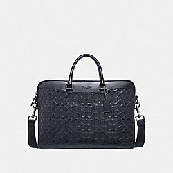 BECKETT SLIM BRIEF IN SIGNATURE LEATHER - MIDNIGHT NAVY - COACH F72977