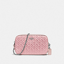 CHAIN CROSSBODY WITH QUILTING - CARNATION/SILVER - COACH F72998
