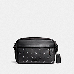 GRAHAM CROSSBODY WITH DIAMOND FOULARD PRINT - BLACK/MULTI - COACH F73012