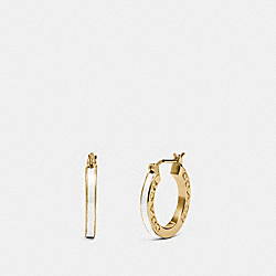 HUGGIE EARRINGS - GOLD/CHALK - COACH F73021
