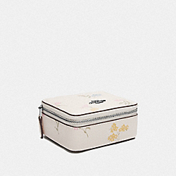 JEWELRY BOX WITH MULTI FLORAL PRINT - CHALK MULTI/SILVER - COACH F73023