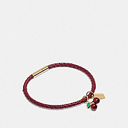 CHERRY CORDED BRACELET - PINK/MULTI - COACH F73035