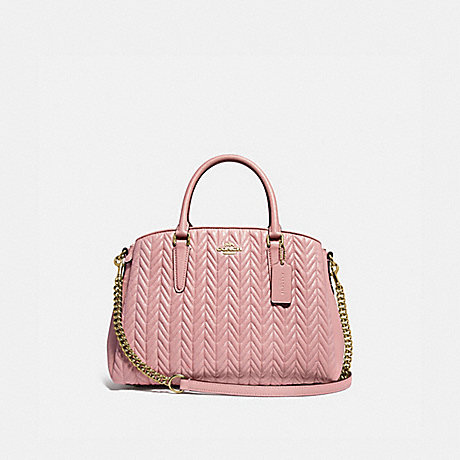 COACH SAGE CARRYALL WITH QUILTING - IM/PINK PETAL - F73062