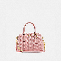 MINI SAGE CARRYALL WITH QUILTING - IM/PINK PETAL - COACH F73063