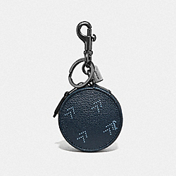 MINI ZIP CASE WITH DOT ARROW PRINT - NAVY/MULTI - COACH F73080