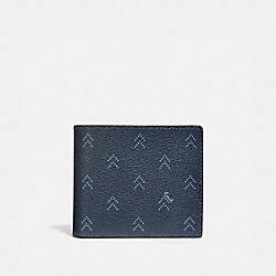 3-IN-1 WALLET WITH DOT ARROW PRINT - NAVY/MULTI - COACH F73097