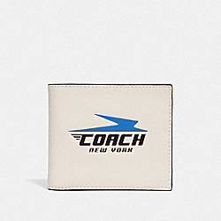 3-IN-1 WALLET WITH VINTAGE COACH MOTIF - CHALK - COACH F73099