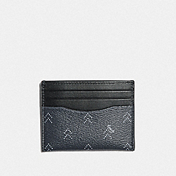 SLIM ID CARD CASE WITH DOT ARROW PRINT - NAVY/MULTI - COACH F73101