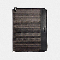 TECH CASE WITH HERRINGBONE PRINT - BLACK/MULTI - COACH F73120