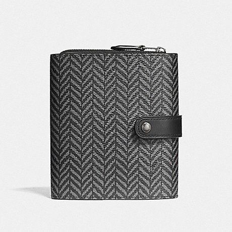 COACH CORD ORGANIZER WITH HERRINGBONE PRINT - BLACK/MULTI - F73129