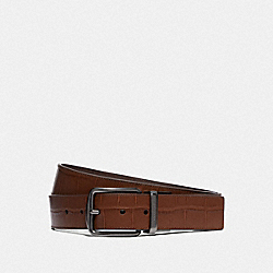 MODERN HARNESS CUT-TO-SIZE REVERSIBLE BELT - SADDLE - COACH F73136
