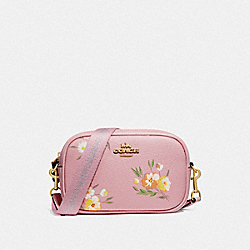 CONVERTIBLE BELT BAG WITH TOSSED DAISY PRINT - CARNATION/IMITATION GOLD - COACH F73152