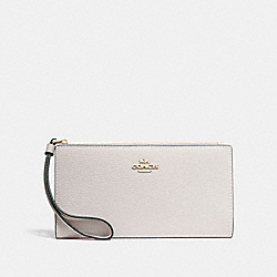 LONG WALLET - CHALK/IMITATION GOLD - COACH F73156