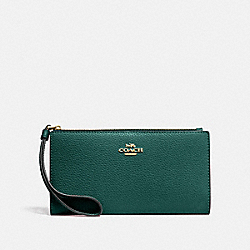 LONG WALLET - IM/VIRIDIAN - COACH F73156