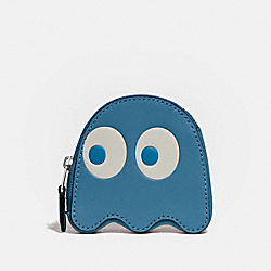 PAC-MAN GHOST COIN CASE - RIVER/SILVER - COACH F73165