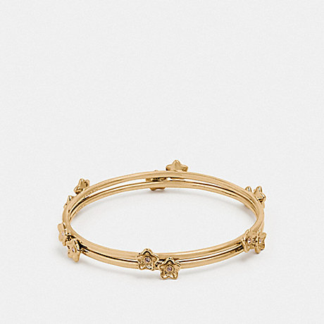 COACH FOLK FLORAL BANGLE - GOLD - F73178