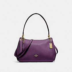 SMALL MIA SHOULDER BAG - GOLD/BLACKBERRY - COACH F73196