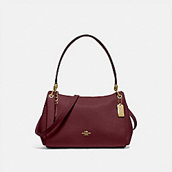 SMALL MIA SHOULDER BAG - IM/WINE - COACH F73196
