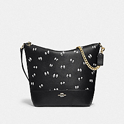 DISNEY X COACH PAXTON DUFFLE WITH SNOW WHITE AND THE SEVEN DWARFS EYES PRINT - BLACK/MULTI/GOLD - COACH F73202