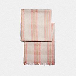 SIGNATURE STRIPED WRAP - LIGHT CORAL - COACH F73250