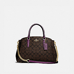 SAGE CARRYALL IN SIGNATURE CANVAS - IM/BROWN METALLIC BERRY - COACH F73292