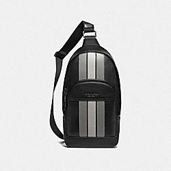 HOUSTON PACK WITH VARSITY STRIPE - BLACK ANTIQUE NICKEL/BLACK/ GREY/ CHALK - COACH F73344