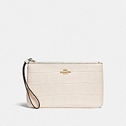 LARGE WRISTLET - CHALK/IMITATION GOLD - COACH F73377