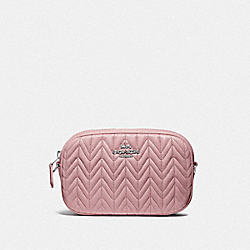 CONVERTIBLE BELT BAG WITH QUILTING - CARNATION/SILVER - COACH F73384
