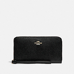 LARGE PHONE WALLET - BLACK/IMITATION GOLD - COACH F73413