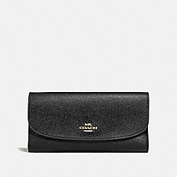 CHECKBOOK WALLET - BLACK/IMITATION GOLD - COACH F73414