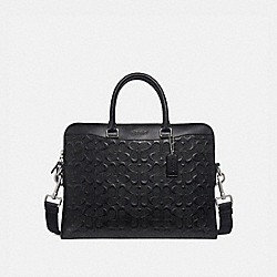 BECKETT PORTFOLIO BRIEF IN SIGNATURE LEATHER - BLACK/NICKEL - COACH F73419