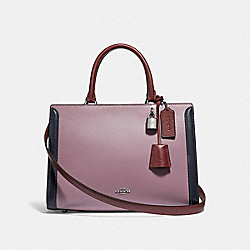 ZOE CARRYALL IN COLORBLOCK - JASMINE MULTI/SILVER - COACH F73518