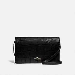HAYDEN FOLDOVER CROSSBODY CLUTCH - BLACK/IMITATION GOLD - COACH F73587