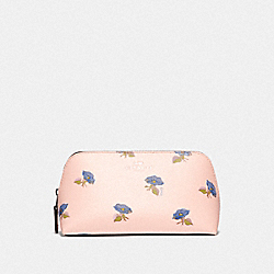 COSMETIC CASE 17 WITH BELL FLOWER PRINT - PINK/MULTI/SILVER - COACH F73590