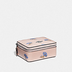 JEWELRY BOX WITH BELL FLOWER PRINT - PINK/MULTI/SILVER - COACH F73592