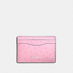 CARD CASE - TULIP/SILVER - COACH F73634
