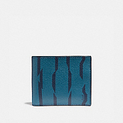 ID BILLFOLD WALLET WITH DISRUPTED STRIPE PRINT - TEAL MULTI/BLACK ANTIQUE NICKEL - COACH F73657