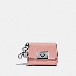 MINI CASSIDY COIN CASE - IM/PINK PETAL - COACH F73858
