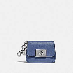 MINI CASSIDY COIN CASE - SV/BLUE LAVENDER - COACH F73858
