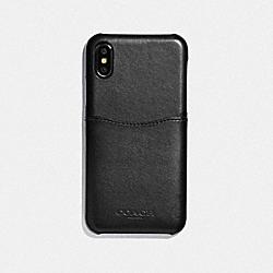 IPHONE X/XS CASE - BLACK/BLACK ANTIQUE NICKEL - COACH F73991