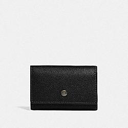 FIVE RING KEY CASE - BLACK/BLACK ANTIQUE NICKEL - COACH F73992