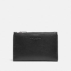 SLIM BILLFOLD CARD WALLET - BLACK/BLACK ANTIQUE NICKEL - COACH F73993