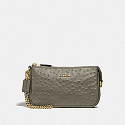 LARGE WRISTLET 19 - MILITARY GREEN/GOLD - COACH F73996